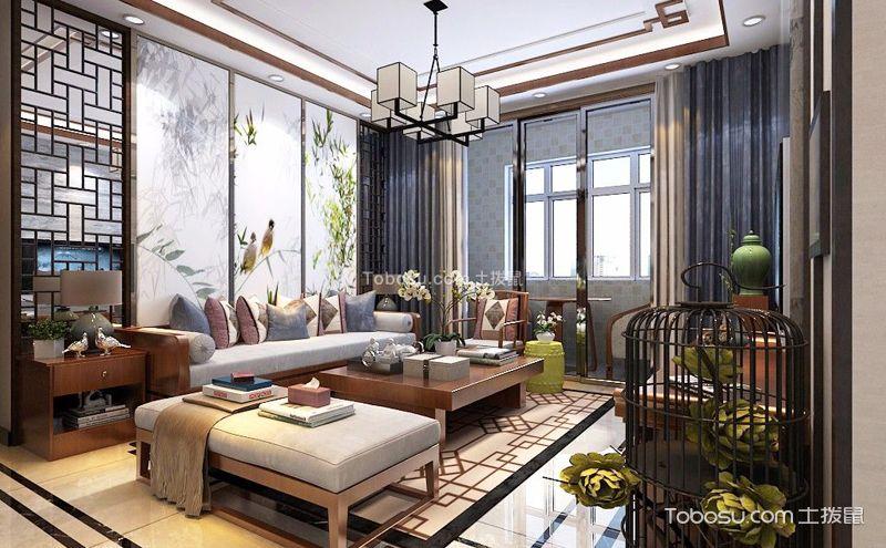 中式田园U乐国际客厅装潢实景图,无忧无虑的家