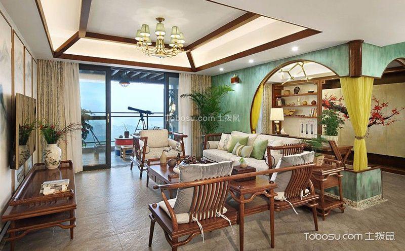 古典中式客廳設計案例,不一樣的古雅情調