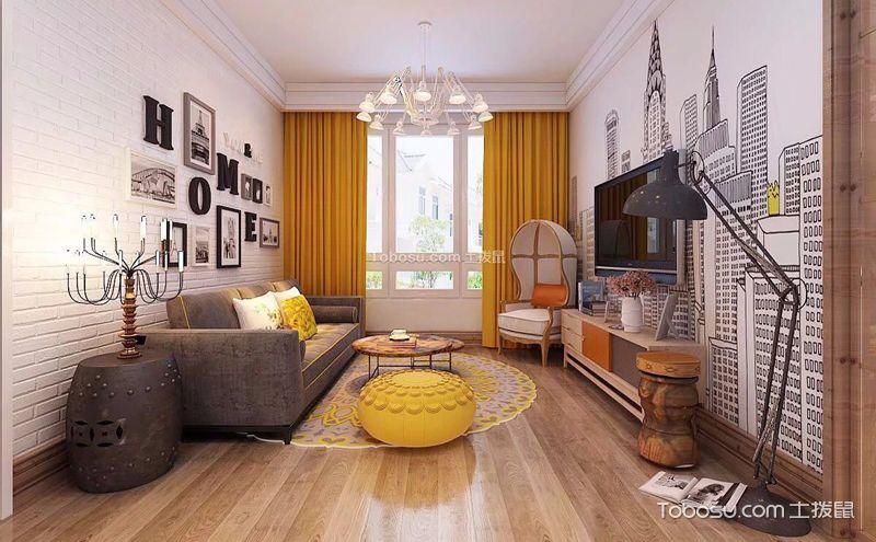 兩室一廳簡約裝修案例,無需華麗只留舒適