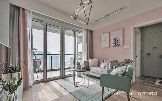 98平北欧风格两室两厅设计—客厅