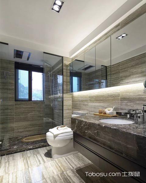 126平米三房新中式u乐娱乐平台设计案例图片