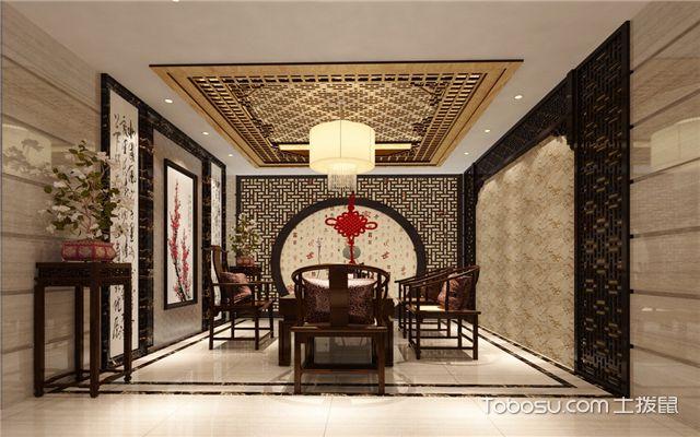 中式客厅u乐娱乐平台技巧之装饰材料