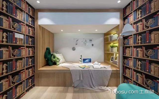 65平米复式二房一厅装修图之次卧
