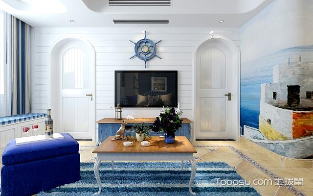 135平米地中海风格三居室