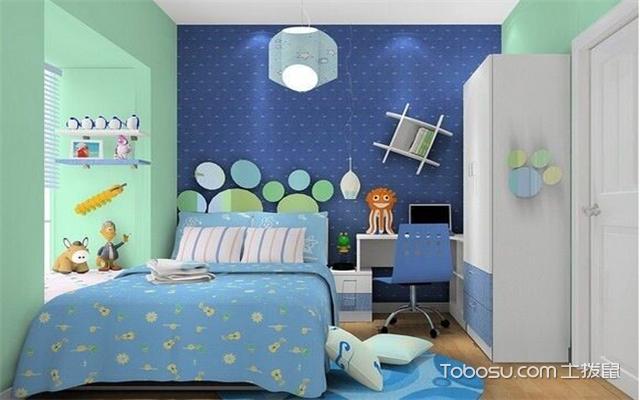儿童房浅蓝色之白色衣柜