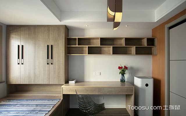 四室两厅装修案例—书房