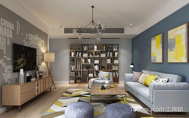 天津150平大户型装修案例—客厅设计