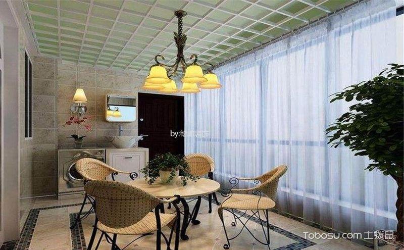 简欧阳台装饰设计,清新之中的雅致之美