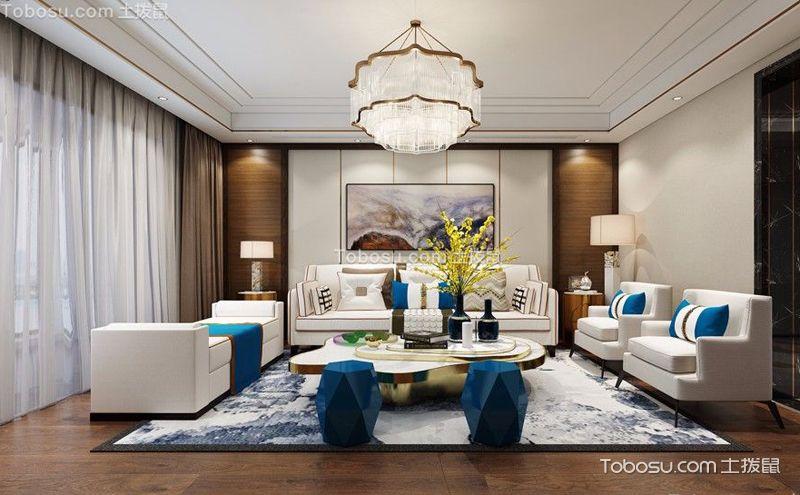 客厅水晶灯图片欣赏,造型与色彩的奇妙变幻