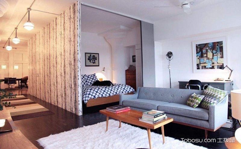 客厅卧室隔断装修案例,这样的布局才合理