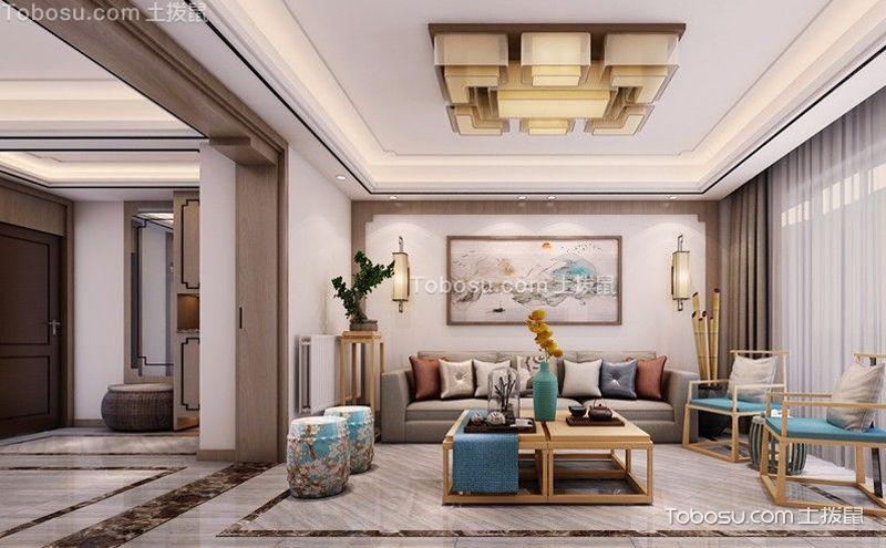 古典中式客厅装饰效果图,处处皆文雅
