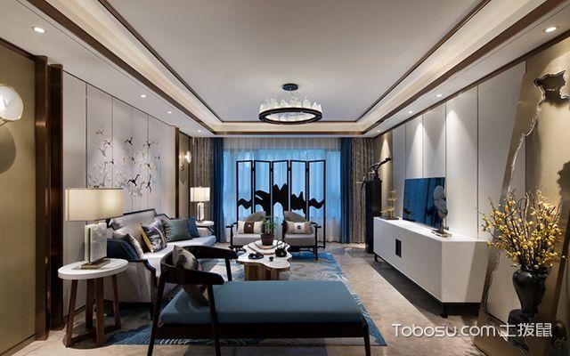 新中式风格设计案例—客厅