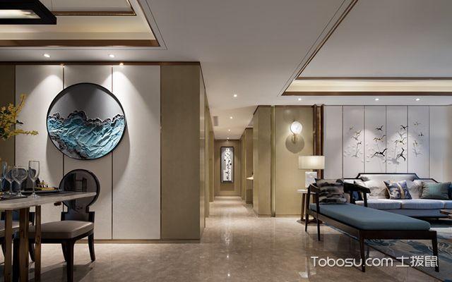 新中式风格设计案例—过道