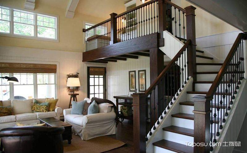 美式楼梯装潢效果图,精致在每一处细节