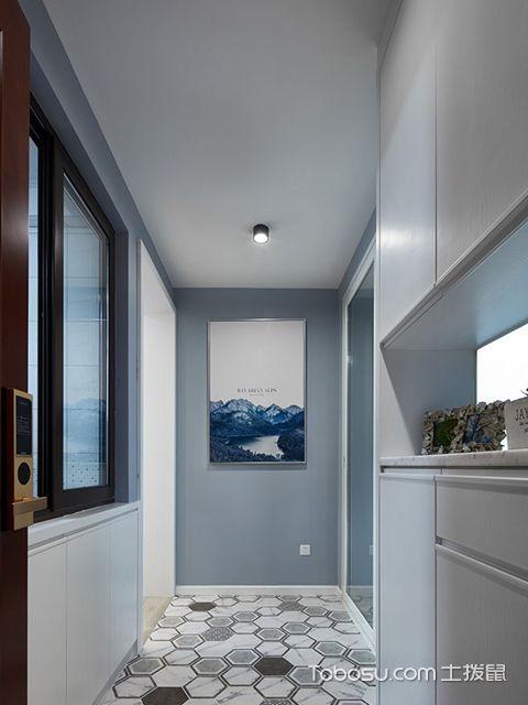 89平米北欧风格装修案例—玄关