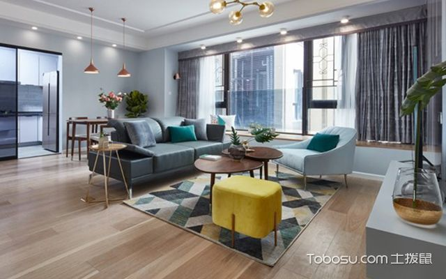 89平米北欧风格装修案例—客厅