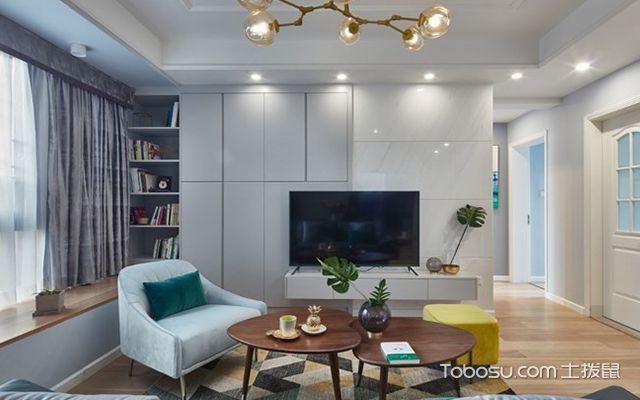 89平米北欧风格装修案例—电视背景墙