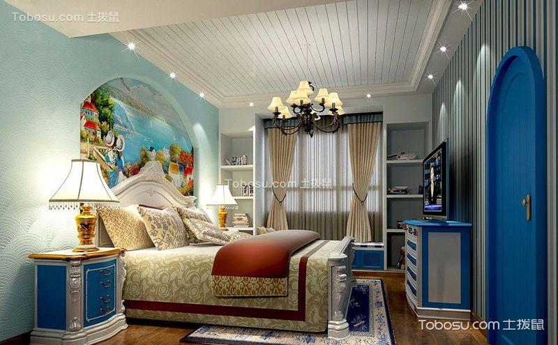 美式地中海风格卧室装饰图,唯美田园风光