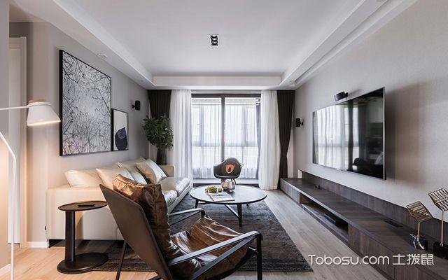 简约风格装修案例—客厅