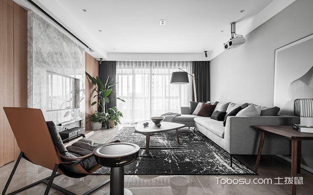 现代简约装修案例—客厅