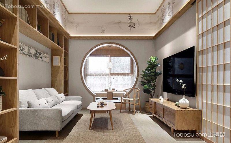 75平米两居室客厅实景图,清爽明朗最养眼