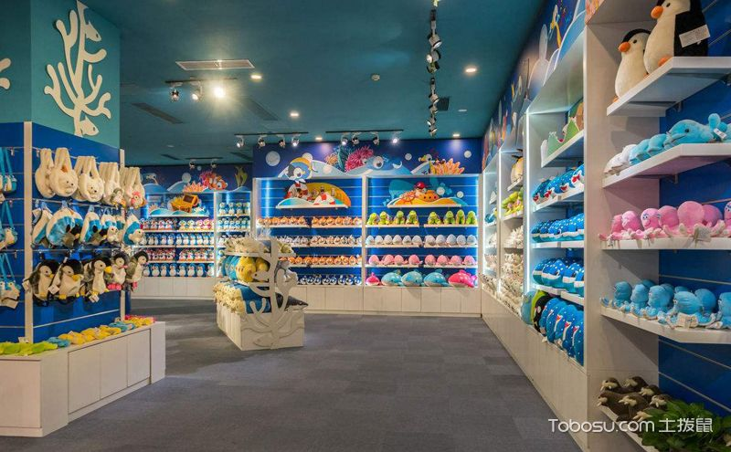 儿童玩具店装饰图片,不同色彩的空间