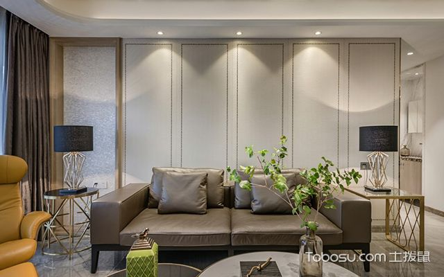 现代风格装修案例—沙发背景墙
