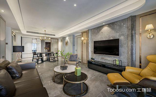 现代风格装修案例—客餐厅空间