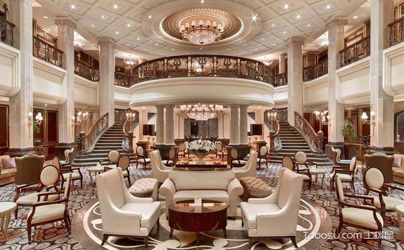 酒店大堂装修实景图,就是要富丽堂皇的效果