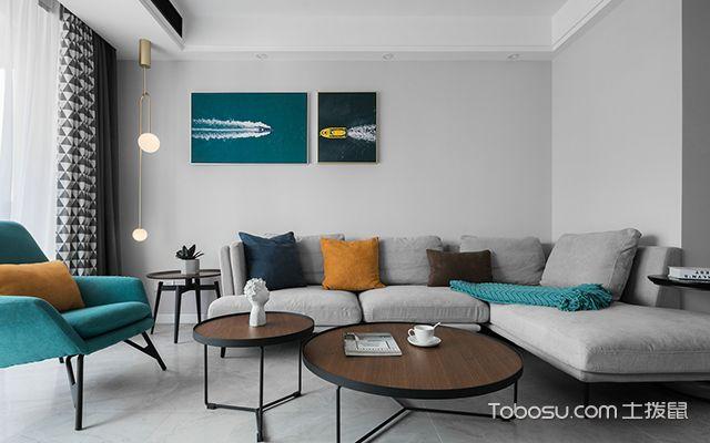 简约风格二居室—客厅
