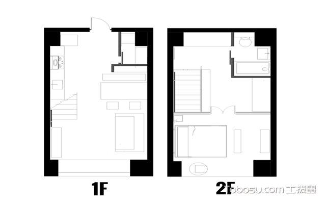 Loft复式公寓u乐娱乐平台案例-户型图