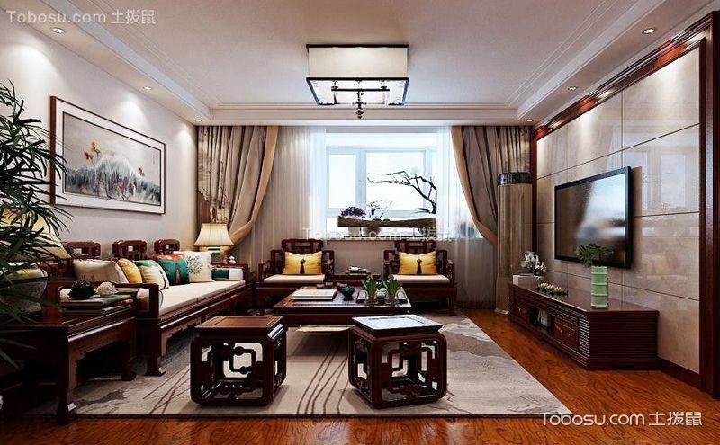 中式小客厅装修效果图,让生活变为一门艺术