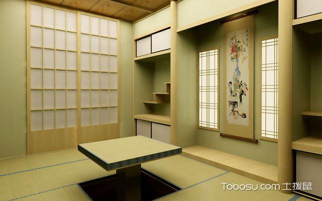 日式风格的小户型书房兼客房装修效果图