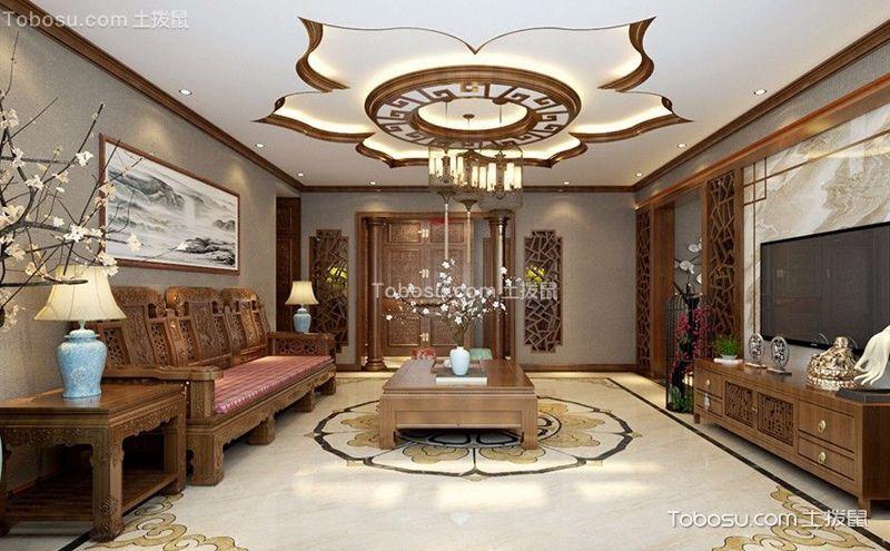 客厅红木沙发背景墙效果图,中式韵味独显