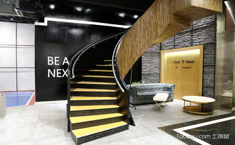 旋转楼梯平面效果图,让家多一份艺术华美