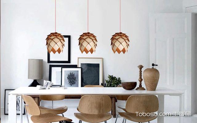 现代餐厅吊灯装修设计效果图