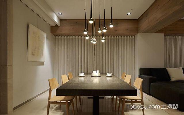 现代餐厅吊灯装修设计效果图大全