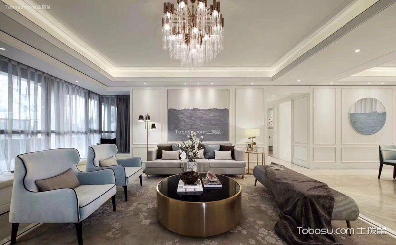 现代简约风格客厅灯效果图,简于形也美于形