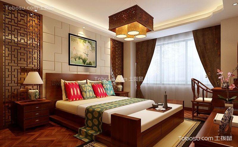 中式卧室装修效果图,给你一帘好梦