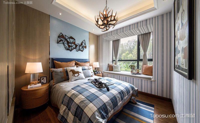 后现代风格卧室装饰效果图,家装中的文艺先锋