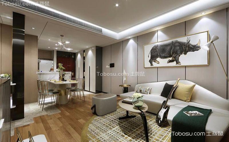 两室两厅现代简约风格装饰案例,简单中的美