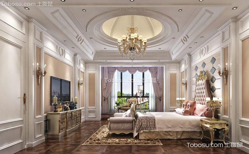 欧式宫廷风卧室装修案例,华丽与高雅的融合