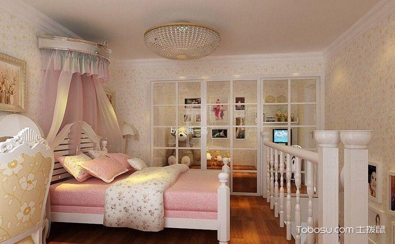 粉色田园卧室装修效果图,给你最甜蜜的宠爱