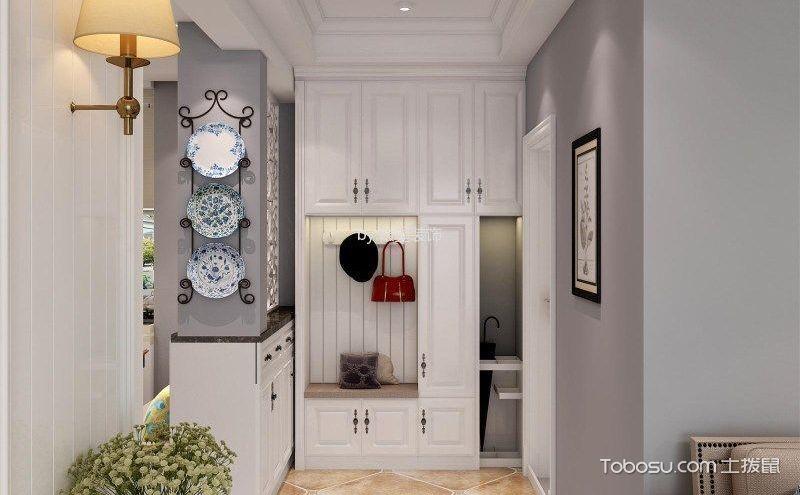 美式鞋柜装修效果图,让惊艳从进门一刻开始
