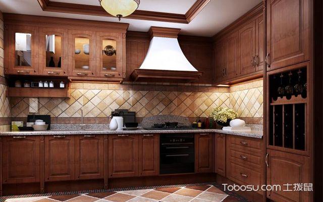 美式风格整体厨房装修效果图
