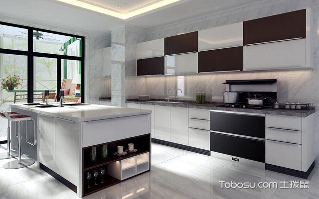 现代简约整体厨房装修效果图