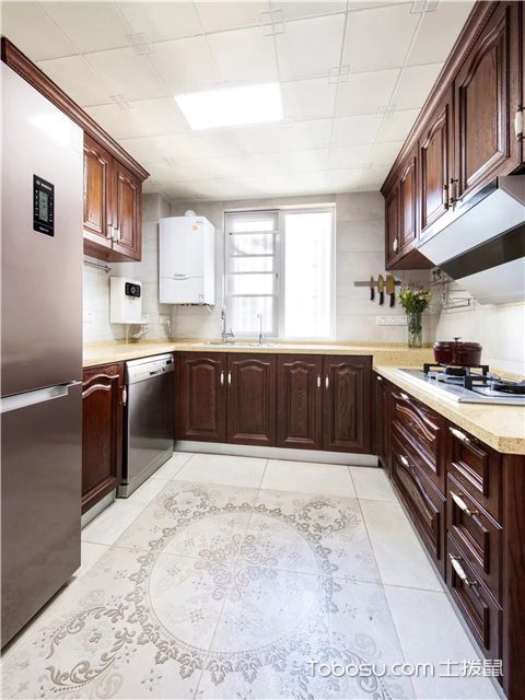 简美风格装修图之厨房