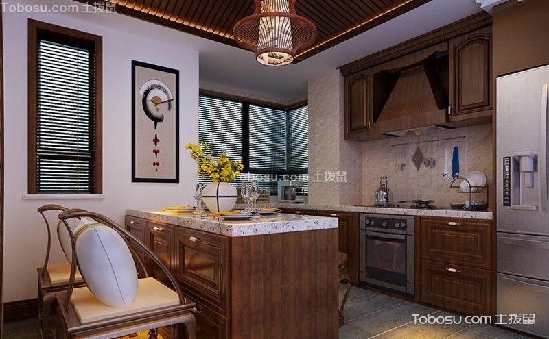 中式厨房装修效果图,多姿多彩的烹饪生活
