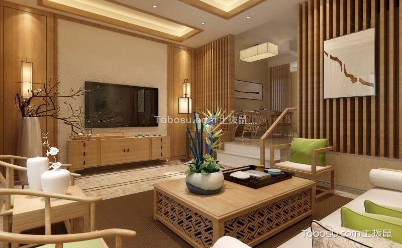 中式客厅隔断装修效果图,勾勒古韵风情