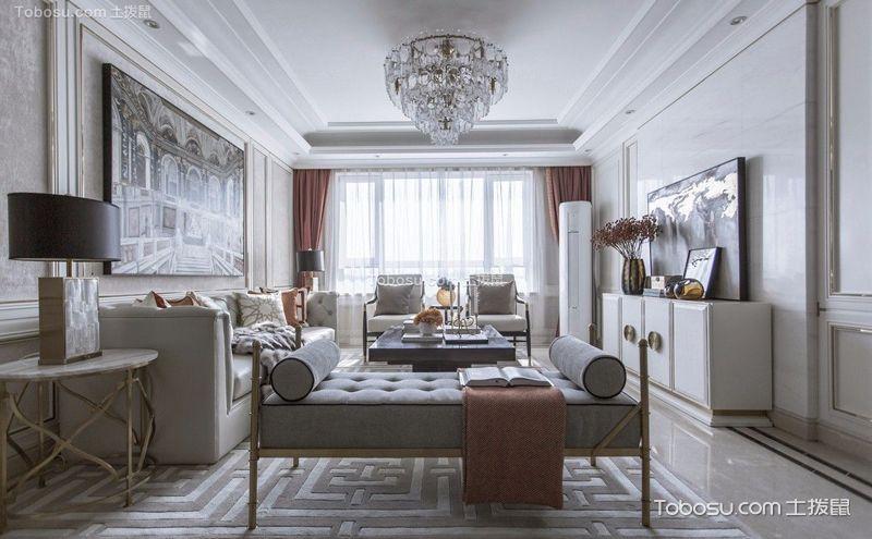 客厅水晶灯装饰实景图,不只是华美精致